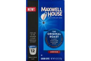 Maxwell House Ground Coffee The Original Roast Medium K-Cups - 12 CT
