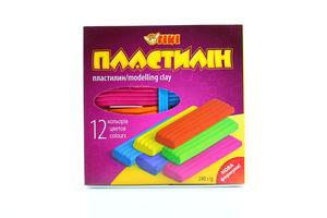 Пластилін TIKI 12 кольорів 52102