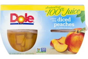 Dole Yellow Cling Sliced Peaches - 4 CT