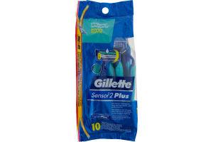 Gillette Sensor2 Plus Disposable Razors - 10 CT