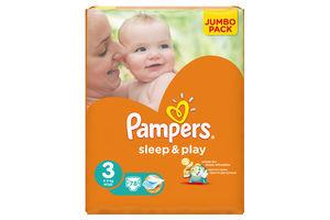 Подгузники Sleep&Play Midi Pampers 4-9кг 78шт