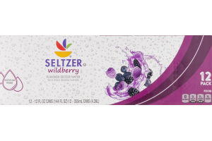 Ahold Seltzer Water Wildberry - 12 PK
