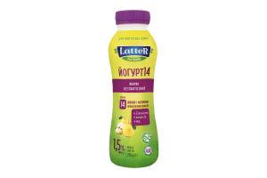 Йогурт 1.5% безлактозний Яблуко LatteR п/пл 290г