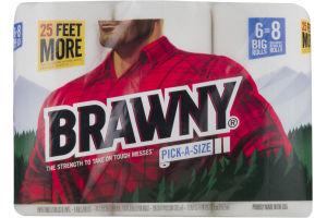 Brawny Paper Towels Pick-A-Size - 6 CT