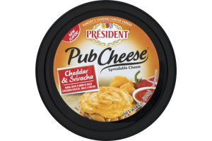 President Pub Cheese Cheddar & Sriracha