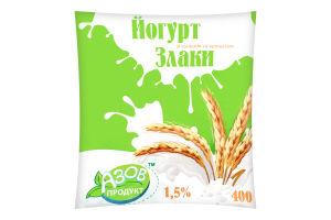 Йогурт «Злаки» 1,5% 400г п/е