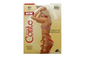 Колготы женские Conte Active 40den 3-М natural