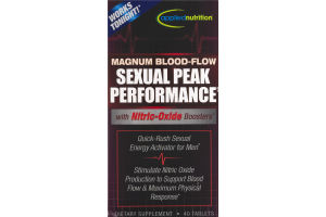 Applied Nutrition Magnum Blood-Flow Sexual Peak Performance With Nitrio-Oxide Boosters Dietary Supplement - 40 CT