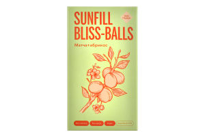 Конфеты Матча+абрикос Bliss-balls SunFill к/у 135г