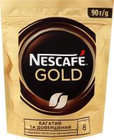 Кава натуральна розчинна сублімована Gold Nescafe д/п 90г