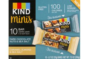 KIND Minis Bar Variety Pack - 10 PK