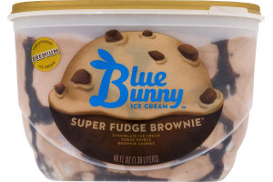 Blue Bunny Ice Cream Super Fudge Brownie