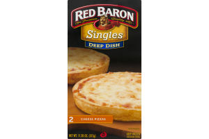 Red Baron Singles Deep Dish Cheese Pizza - 2 CT