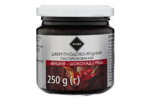 Джем плодово-ягодный Вишня-шоколад-мед Rioba с/б 250г