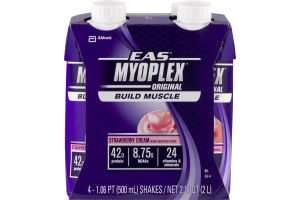 EAS Myoplex Original Build Muscle Strawberry Cream - 4 CT