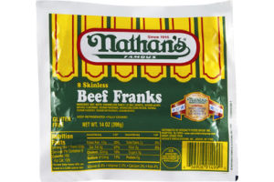 Nathan's Famous Skinless Beef Franks - 8 CT