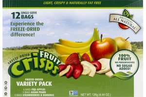 Brothers All Natural Freeze-Dried Fruit Crisps Variety Pack - 12 PK