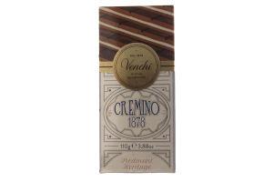 Шоколад молочный Venchi паст фундук-минд в бел/шок