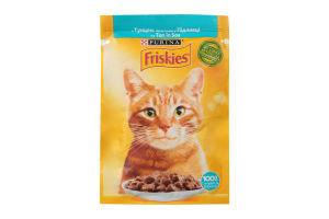 Корм для котів Фріскіс вологий з тунцем шматочки у підливці 26x85г