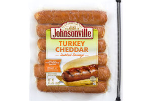 Johnsonville Fully Cooked Smoked Sausage Turkey Cheddar