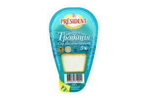 Творог 5% Традиция кисломолочный President 250г
