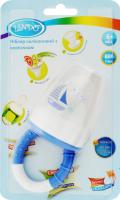 Ніблер для дітей від 6міс силіконовий з ковпачком №LI815 Lindo 1шт