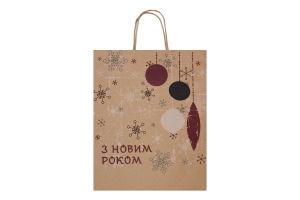 Пакет подарунковий 31x25x9 №772878 L Ретро Южпромгруп 1шт