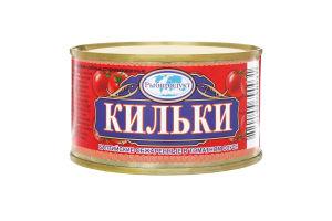 Кильки Рыбпродукт балтийские обжаренные томат соус