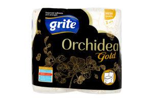 Папір туалетний 3 шаровий Orchidea Gold Grite 4шт