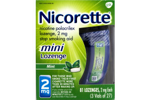 Nicorette 2mg Mini Lozenge Mint - 81 CT