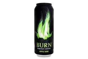 Напій енергетичний безалкогольний сильногазований Apple Kiwi Burn з/б 500мл