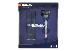 Набор Гель для бритья Sensitive Skin Gillette 75мл+Бритва со сменной кассетой Fusion Gillette 1шт