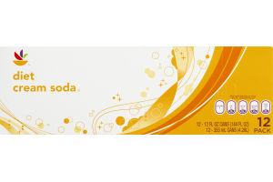 Ahold Diet Cream Soda - 12 CT