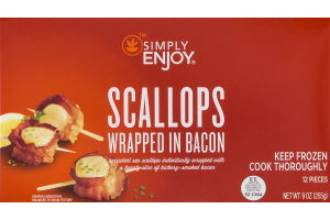 Simply Enjoy Scallops Wrapped In Bacon - 12 CT