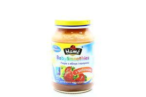 Пюре для детей от 6мес из яблок и клубники BabySmoothies Hame c/б 190г
