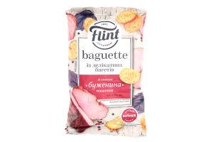 Сухарики пшеничні Flint Baguette зі смаком буженини пікантної 60г