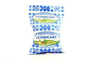 Молоко 2,6% ультрапастеризованное Селянське 0,9л