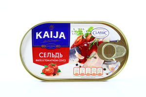 Сельдь филе в томатном соусе Kaija ж/б ключ 170г