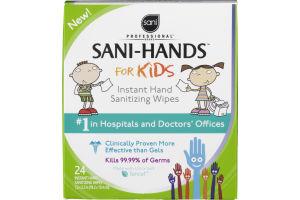 Sani Professional Sani-Hands for Kids Instant Hand Sanitizing Wipes - 24 CT