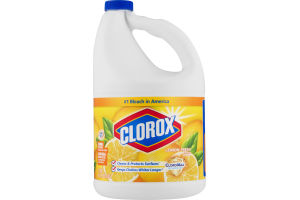 Clorox Bleach, Lemon Fresh Scent, 121 Ounces
