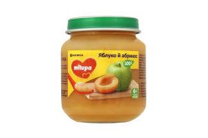 Пюре для дітей від 6міс Яблуко і абрикос Milupa с/б 125г