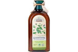 Шампунь для волос Крапива двудомная и репейное масло Зеленая Аптека 350мл