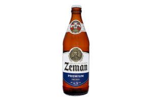 Пиво 0.5л 4.9% світле фільтроване пастеризоване Premium Zeman пл