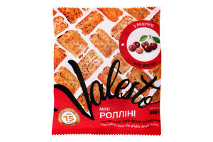 Міні-ролліні з витяжного тіста філло з вишнею заморожені Valesto м/у 800г