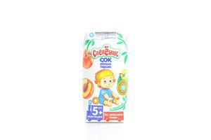 Сок для детей от 5мес Яблоко-персик Спелёнок т/п 0.2л