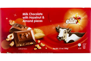 Elite Milk Chocolate Bar With Hazelnut & Almond Pieces