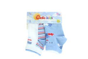 CONTE-KIDS TIP-TOP Шкарпетки дитячі (2 пари) р.12 702 біло-блакитний