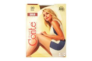 Колготи жіночі Conte Solo Relax 20den 4-L bronz