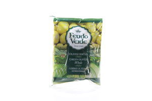 Оливки с косточкой консервированные пастеризированные Feudo Verde 170г