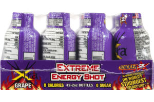 Stacker 2 Xtreme Energy Shot Xtra Grape - 12 CT